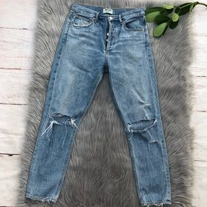 Agolde Jamie High Rise Button Fly Jeans 27